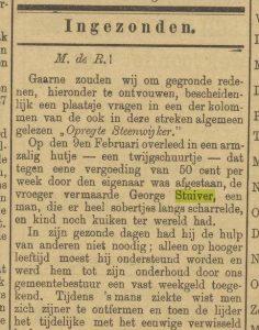 Krantenartikel begrafenis George deel 1