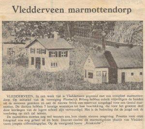 Marmottendorp Vledderveen juli 1969