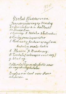 Agenda Algemene Ledenvergadering 1938