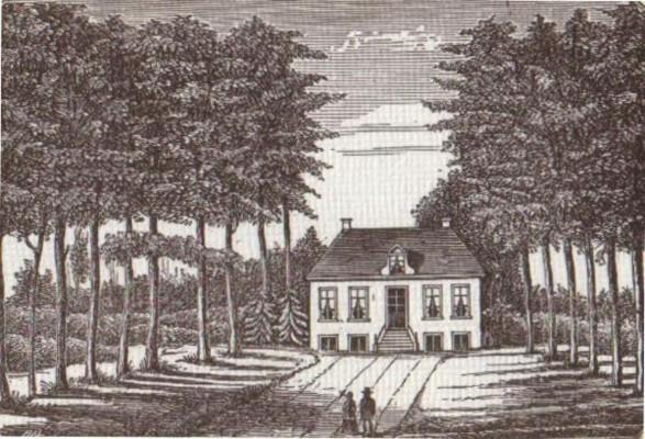 Huize Westerbeek, gravure 1869