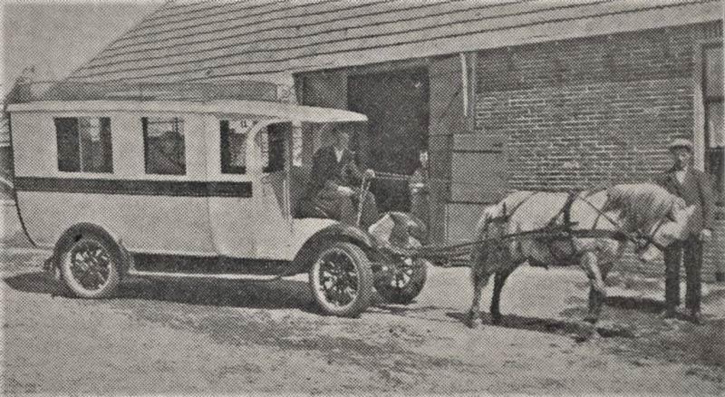 Schoolbus met paard
