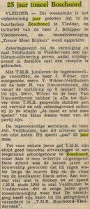 25 Jaar toneel Boschoord. Krantenartikel d.d. 4-1-1961